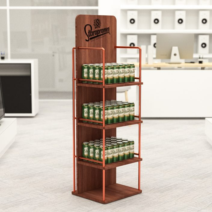 Staropramen wooden shelves