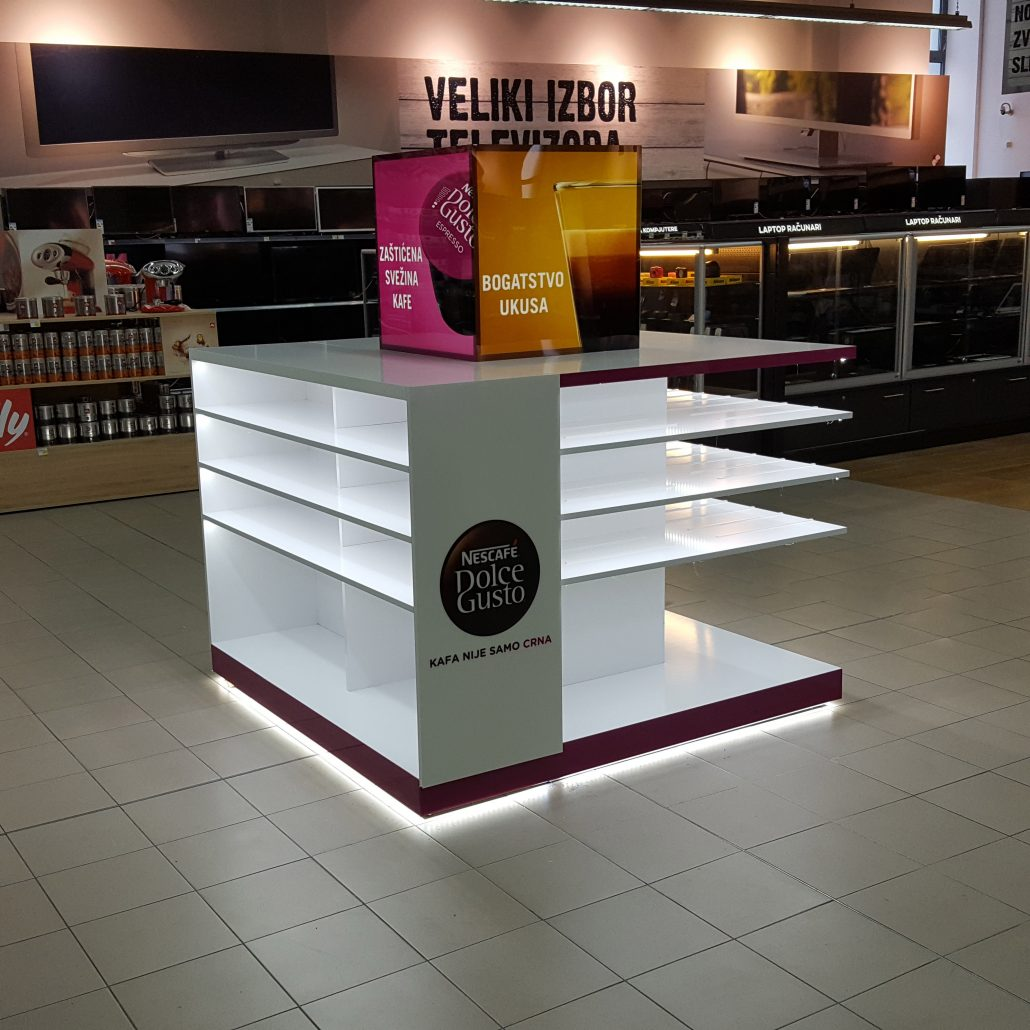 Dolce Gusto, Nescafe in store element