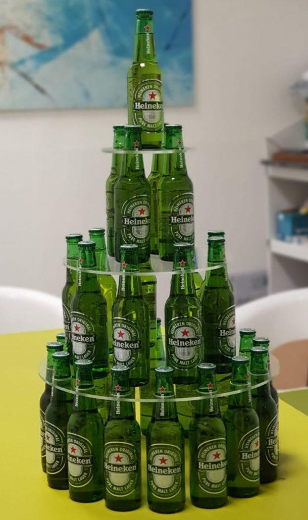 Hineken - bottle presenter