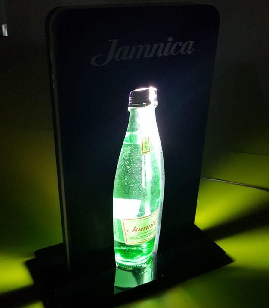 Jamnica - bottle presenter with LED lights