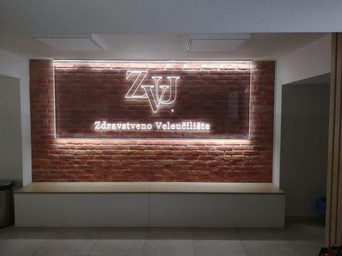 Svijetleća reklama - laserom gravirani PVC, LED