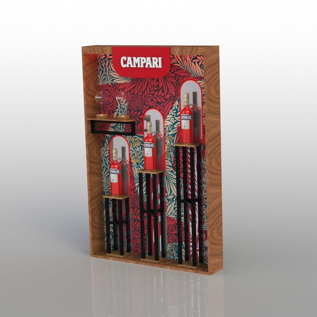 Campari - bottle presenter