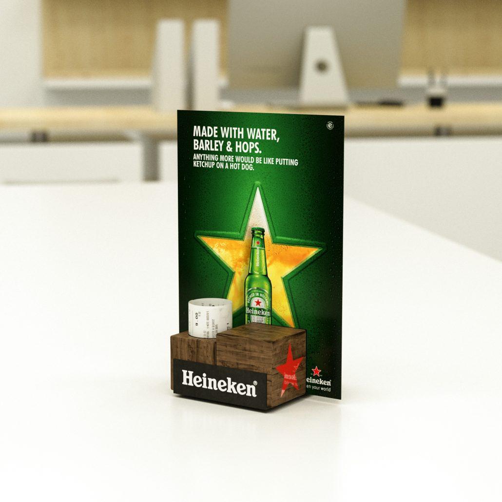 Heineken - menu holder