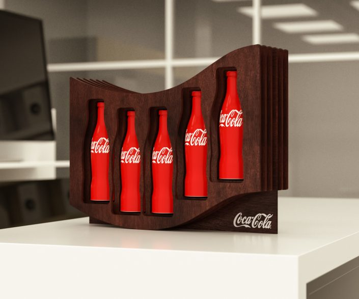 Coca Cola - bottle presenter