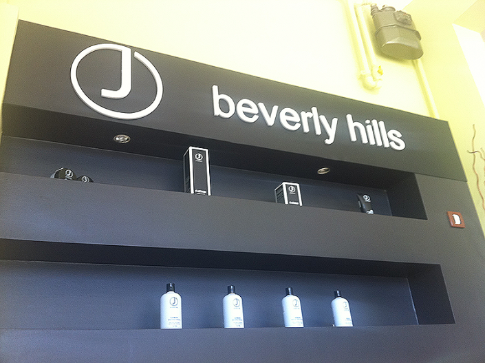 Beverly Hills - store element with electric components