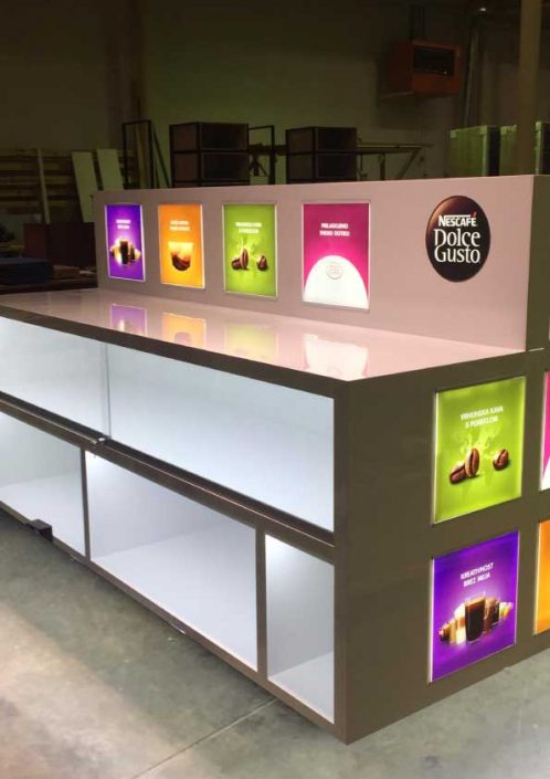 Nescafe, Dolce Gusto - in store element
