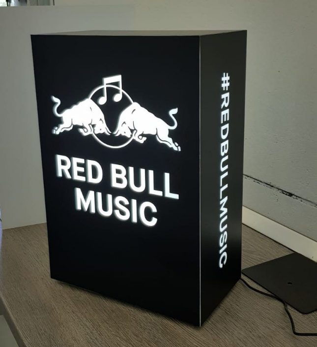 Red Bull - Promo light box for #redbullmusic